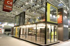 Schweizer Metallbau fair stand by OOS, Munich exhibit design