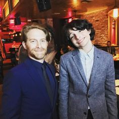 "8,373 Likes, 167 Comments - Seth Green (@sethgreen) on Instagram: ""Finally met the modern Richie Tozier @finnwolfhardofficial Love this kid- such a talent & a…"""