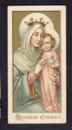 Holy Card ** Regina Coeli **
