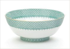 Mottahedeh Green Lace Round Bowl