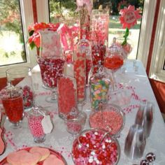 Candy bar I did for Tracy's shower