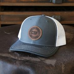 1737bb7e66e Custom Leather Patch Hat with YOUR LOGO