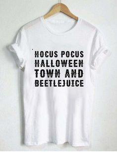 hocus pocus halloween town and beetlejuice T Shirt Size XS,S,M,L,XL,2XL,3XL