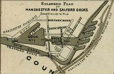 Map of the Manchester and Salford Docks