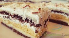 Prajitura Coco Chanel cu cocos - Retete pline de culoare Cookie Recipes, Dessert Recipes, Desserts, Coco Chanel, Cake Cookies, Vanilla Cake, Tiramisu, Chanel Cruise, Cheesecake