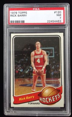 278b76292 1979 TOPPS  120 RICK BARRY PSA 7 HOF NBA CARD  HoustonRockets