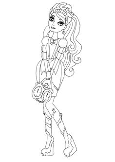 Free Printable Ever After High Coloring Pages: Ashlynn Ella Ever After High Coloring Page