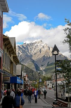 Downtown - Banff, Alberta  #GILOVEALBERTA I've been here, it's amazing, the people are super friendly