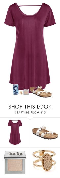 """What I have done so far this week"" by sweet-n-southern ❤ liked on Polyvore featuring Birkenstock, Urban Decay and Kendra Scott"
