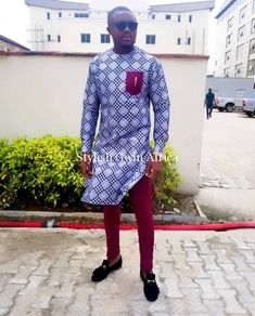 Worry no more my man! Because we've got the most Stylish Wedding Suit Styles For Nigerian Men which you could choose from the best naija men wedding suits styles of African Wear Styles For Men, African Shirts For Men, African Dresses Men, African Attire For Men, African Clothing For Men, Ankara Styles For Men, Children Clothing, Nigerian Men Fashion, African Print Fashion