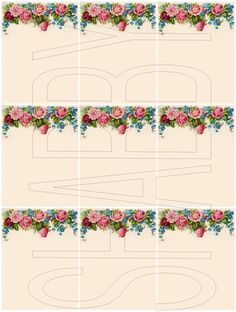 Shabby Chic digital collage sheet for scrapbook and cards DC595 by shabbybeautiful on Zibbet