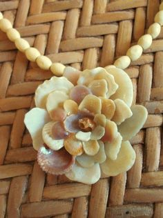 shell, flower necklace