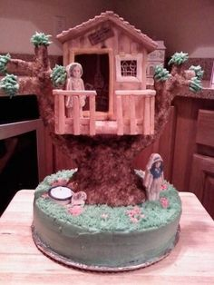 An American Girl Doll Tree House Cake By momade on CakeCentral.com