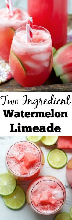 Fresh watermelon juice is the star of this Watermelon Limeade! Combine just two ingredients for the most refreshing summer treat ever!