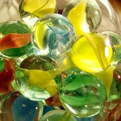 Old Glass Marbles Still love them to this day and am fascinated by the new designs and colours...even iridescent ones!