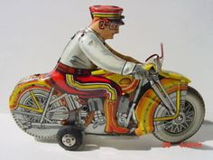 1950's Marx Tin Wind Up Motorcycle Plastimarx Mexican | eBay