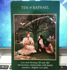 ~Ten of Raphael card from Archangel Power Tarot Cards by Doreen Virtue and Radleigh Valentine~