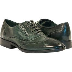 PAOLO IANTORNO Ashley Dip Dyed Green Leather Oxford Lace Up Shoes ($349) ❤ liked on Polyvore featuring shoes, oxfords, green, oxford lace up shoes, brogue shoes, oxford brogues, leather sole shoes and wing tip shoes