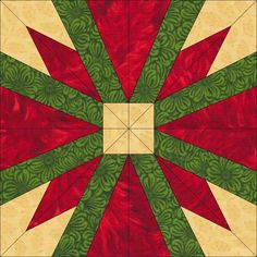 poinsettia star -Christmas Colors. Would be a cute potholder