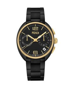 40mm+Ladies\'+Momento+Chronograph+Watch,+Black+by+Fendi+Timepieces+at+Neiman+Marcus.