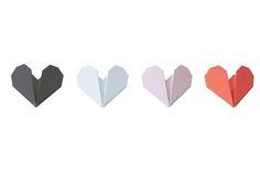 """Haakje """"Origami heart"""""""