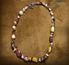 Necklace, Jasper, Sterling Silver Beads, Multi Color Jasper Necklace, Wounded Horse Designs. $65.00, via Etsy.