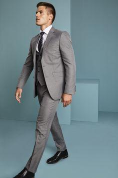 e0a701d7dad0 ALDERLEY SUITING. Simon Jersey Men's Alderley Suit - Grey Sharkskin