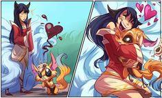 grafika ahri, gnar, and cute