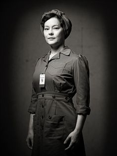 Picture: Meg Tilly in 'Bomb Girls.' Pic is in a photo gallery for 'Bomb Girls' featuring 9 pictures. Dancer In The Dark, Female Heroines, 1940s Woman, Girl Photo Gallery, Dapper Day, Rosie The Riveter, Movie Characters, Dieselpunk, The Good Old Days