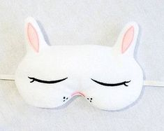 Bunny sleep mask ITH embroidery design to stitch a cute & unique gift with! Embroidery Scissors, Machine Embroidery, Cute Sleep Mask, Embroidery Designs, Sleeping Bunny, Bunny Mask, Felt Mask, Softie Pattern, Cute Bunny