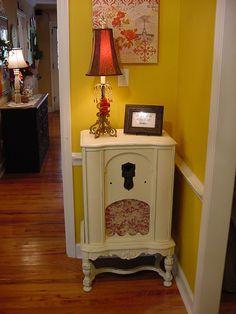Painted radio cabinet