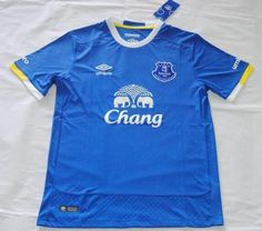 2016-17 Everton Home Blue Short Sleeves Soccer Jersey