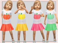 6 different colors Found in TSR Category 'Sims 4 Toddler Female'