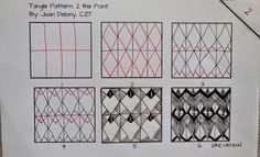 2 the point tangle pattern