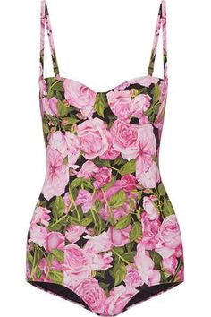 Floral one-piece bathing suit