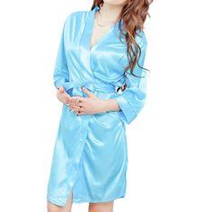 Fashion Lace Silk Women Robe Sets Silk Satin Nightgowns Sexy V Neck Femininos Sleepwear Baby Doll Sexy Lingerie Dress Costume