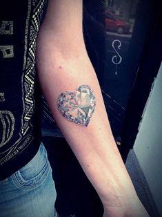 Diamond Tattoo on Forearm