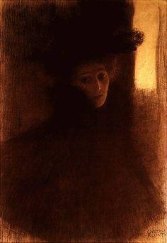 Gustav Klimt - Dame mit Cape