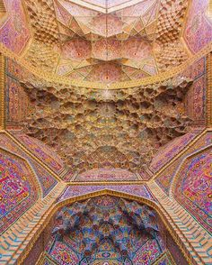 What a rich architecture at the entrance of Nasir ol Molk historic mosque . Location: city of #Shiraz - IRAN . ============= #tourism_iran . . Photo by: @aali.photo . . این هم یه عکس بسیاااار زیبا از معماری غنی ایرانی در قسمت ورودی مسجد تاریخی نصیر الملک در شهر شیراز . . پ ن: یکی از زیباترین جاهای شیراز همین مسجد نصیر هست . اصن همه سوراخ سُنبه هاش جون میده واسه عکاسی . @a.r.j92 ادمین