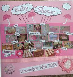 Baby pregnancy scrapbook, storybook. Baby shower