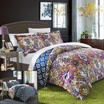 <strong>Paisley Global Inspired Delhi 2 Piece Reversible Duvet Set</strong> by Chic Home