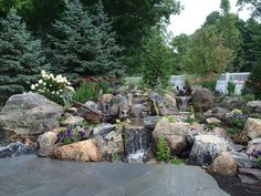 Waterfall created by TRD Designs, Ltd. in Katonah, NY. #WaterfallWednesday