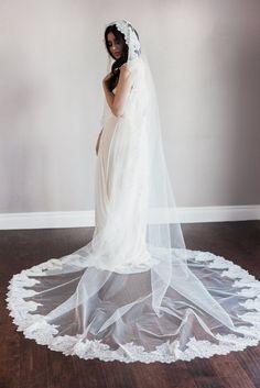 NEW-Bridal mantilla veil-double layer by SmithaMenonbridal on Etsy