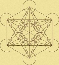 Metatron's Cube Tattoo | Artist Unknown