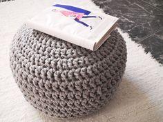 crochet pouf pattern free - Google Search