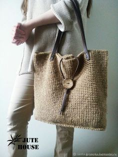 Crotchet Bags, Crochet Tote, Crochet Handbags, Knitted Bags, Spring Look, Jute Bags, Burlap Bags, Shopper Bag, Handmade Bags