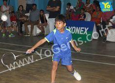 We congratulates Manjeet Choudhary for winning with 13-15, 15-12, 15-11 in Boys Singles U9 YoGems Badminton  Championship series,Noida