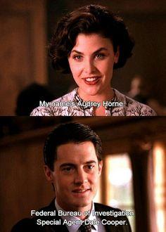 Audrey Horne. Dale Cooper. Twin Peaks