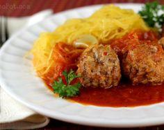 Wheat Belly Recipes : Spaghetti Squash & Meatballs @ mattnole