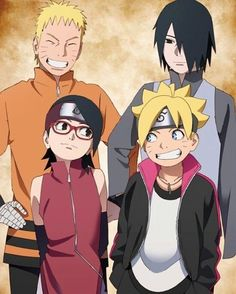 Naruto Sasuke and his children